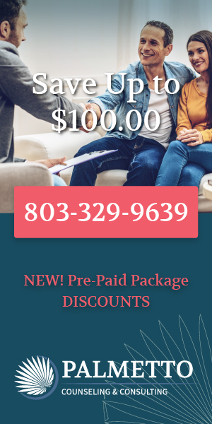 Save up to $100 for marriage/couples counseling and life & business coaching sessions at Palmetto Counseling & Consulting in Rock Hill and Fort Mill, SC.