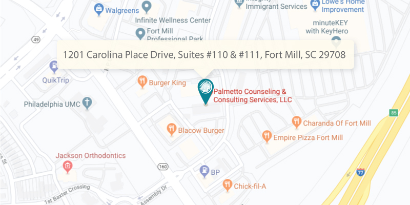 Palmetto Counseling 1201 Carolina Place Drive, Suites #110 & #111 Fort Mill, SC 29708